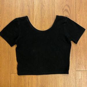 Tiny black crop top